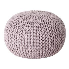 Argos Home Cotton Knitted Pod Footstool - Lavender
