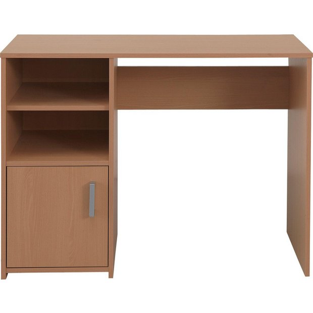 buy lawson office desk beech at your online shop for desks and workstations