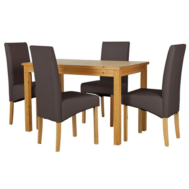 Buy Home Lincoln Solid Wood Table 4 Skirted Chairs