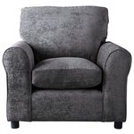 more details on HOME Tessa Fabric Chair - Charcoal.
