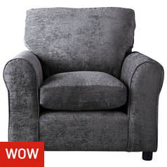 Argos Home Tessa Fabric Chair - Charcoal