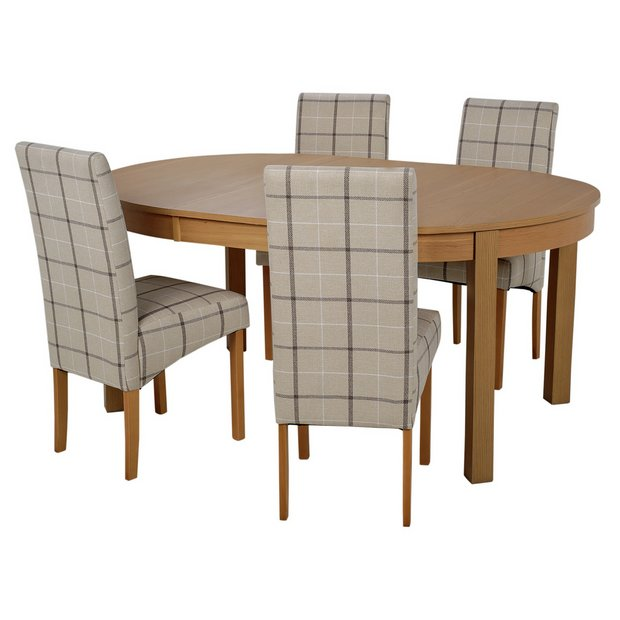 Buy collection massey dining table 4 chairs wood effect for Dining room furniture uk