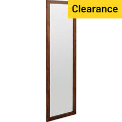 Argos Home Full Length Wooden Mirror - Walnut Effect