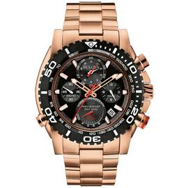 Bulova Men's Rose Gold Stainless Steel Chronograph Watch