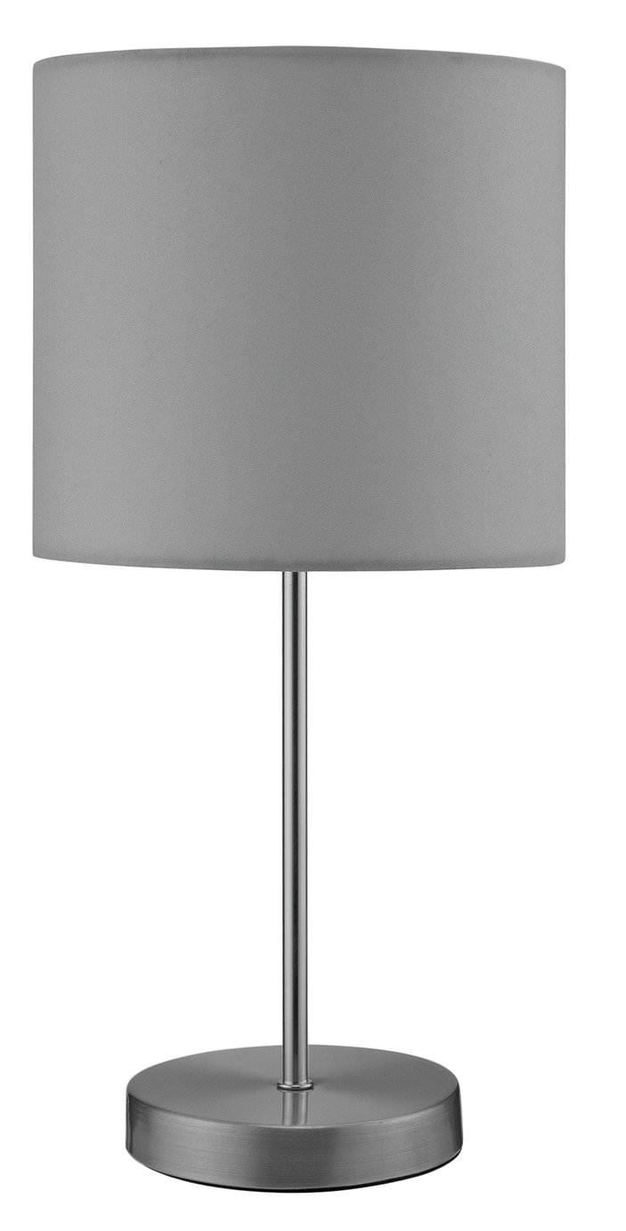 colourmatch satin stick table lamp flint grey