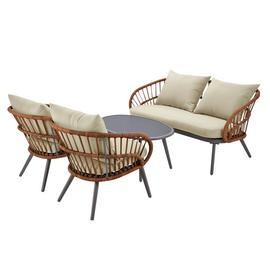 Argos Home Oreti 4 Seater Rattan Sofa Set