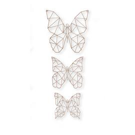 Art for the Home Flutter Set of 3 Butterfly Metal Wall Art