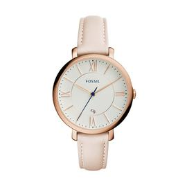 Fossil Ladies Jacqueline Pink Leather Strap Watch