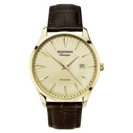 Sekonda Men's Brown Leather Strap Watch