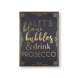 Art for the Home Prosecco Time Printed Canvas