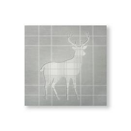 Art for the Home Tartan Stag Wall Art
