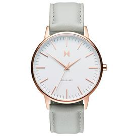 MVMT Ladies Boulevard Grey Leather Strap Watch