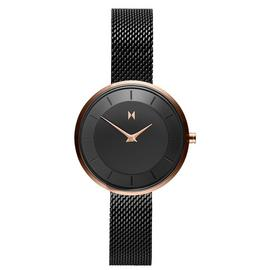 MVMT Ladies Black Stainless Steel Mesh Strap Watch