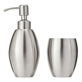 Argos Home Round Stainless Steel Bathroom Accessory Set