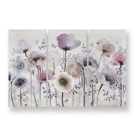Art for the Home Classic Poppy Set of 3 Printed Canvas