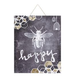 Art for the Home Bee Happy Printed Canvas
