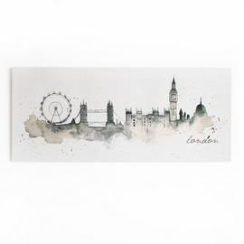 Art for the Home London Watercolour Printed Canvas