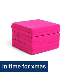 ColourMatch Single Mattress Cube - Funky Fuchsia