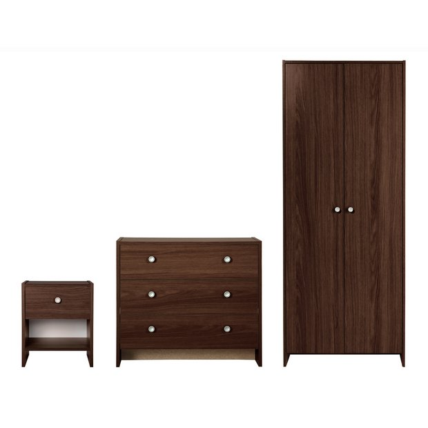 Buy home seville 3 piece 2 door wardrobe package wenge at your online shop for Buy home furniture online uk