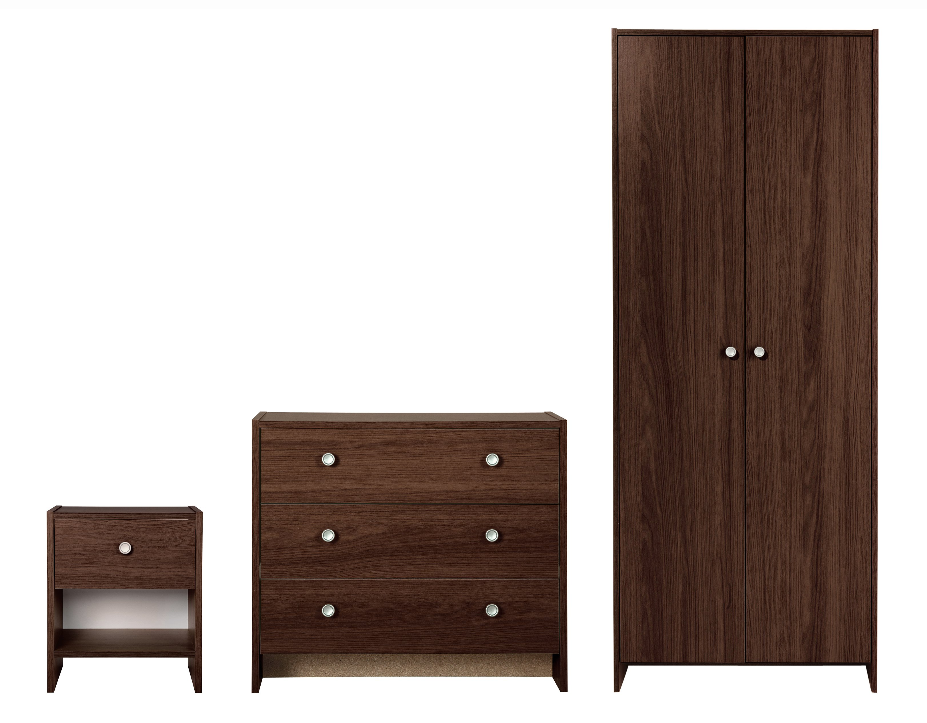 HOME Seville 3 Piece 2 Door Wardrobe Package   Wenge Effect