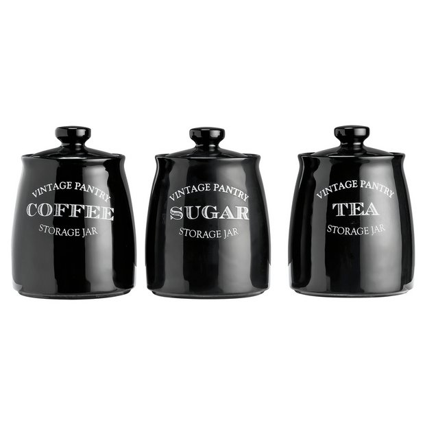 Buy collection eve traditional set of 3 storage jars for Kitchen set argos