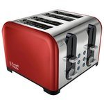 more details on Russell Hobbs 22402 Westminster 4 Slice Toaster – Red.