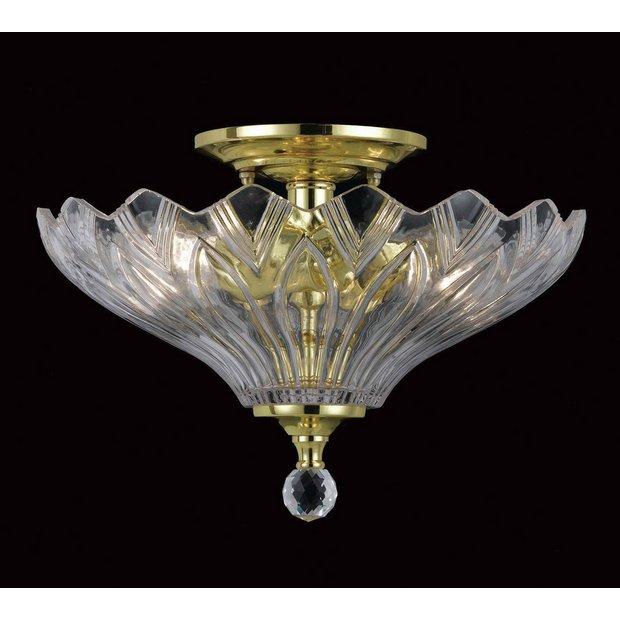 buy dallas glass 2 bulb light fitting polished brass at. Black Bedroom Furniture Sets. Home Design Ideas