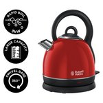 more details on Russell Hobbs Westminster Red Cordless Dome Kettle 19192.