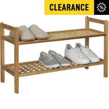 Collection Sherwood 2 Shelf Stackable Shoe Storage - Walnut