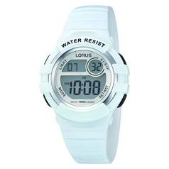 Lorus Ladies White Resin Strap Digital Sports Watch