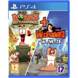 Worms Battleground & Worms W.M.D. PS4 Game Double Pack