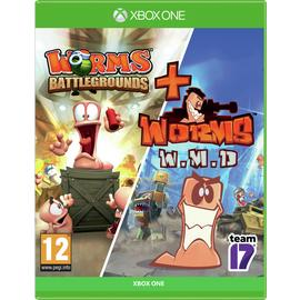 Worms: Battleground & Worms W.M.D Xbox One Game Double Pack