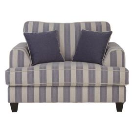 Argos Home Barmouth Fabric Cuddle Chair - Stripe