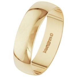 Revere 9ct Yellow Gold D-Shape Wedding Ring - 5mm