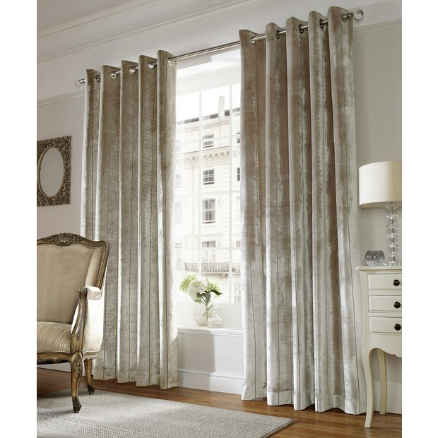 Buy Lux Eyelet Curtains 168 X 137cm Champagne At Your Online Shop For Curtains
