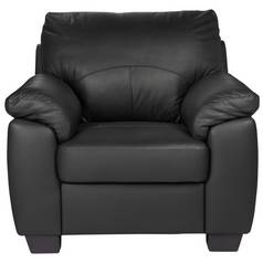 Argos Home Logan Faux Leather Armchair - Black