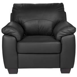 Argos Home Logan Leather Mix Armchair - Black