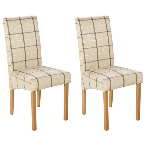 Buy Heart Of House Pair Of Checked Skirted Dining Chairs
