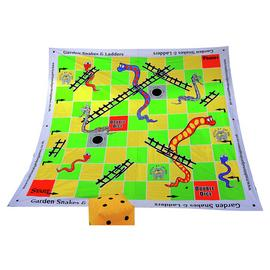 Traditional Garden Games Giant Snakes and Ladders 3m x 3m.