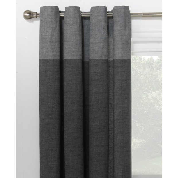 Buy HOME Dublin Unlined Eyelet Curtains - 168 x 229cm -Charcoal at ...