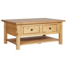 Home San Diego 2 Drawers 1 Shelf Coffee Table Pine