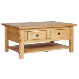 Argos Home San Diego 2 Drawers 1 Shelf Coffee Table - Pine