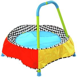 Chad Valley 2ft Indoor Toddler Trampoline - Multicoloured
