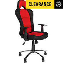 HOME Gaming Adjustable Office Chair - Black and Red