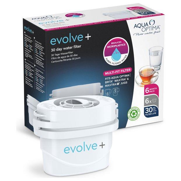 Aqua Optima Evolve Plus Water Filter Cartridges - Pack of 6