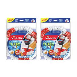 Vileda 2 in 1 Microfibre Turbo Mop Head Pack
