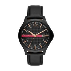 Armani Exchange AX2410 Men's Black Leather Strap Watch