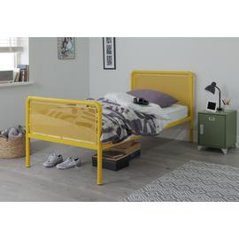 Argos Home Maddox Yellow Single Bed & Kids Mattress