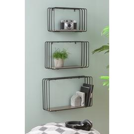 Argos Home Loft Set of 3 Decorative Shelves