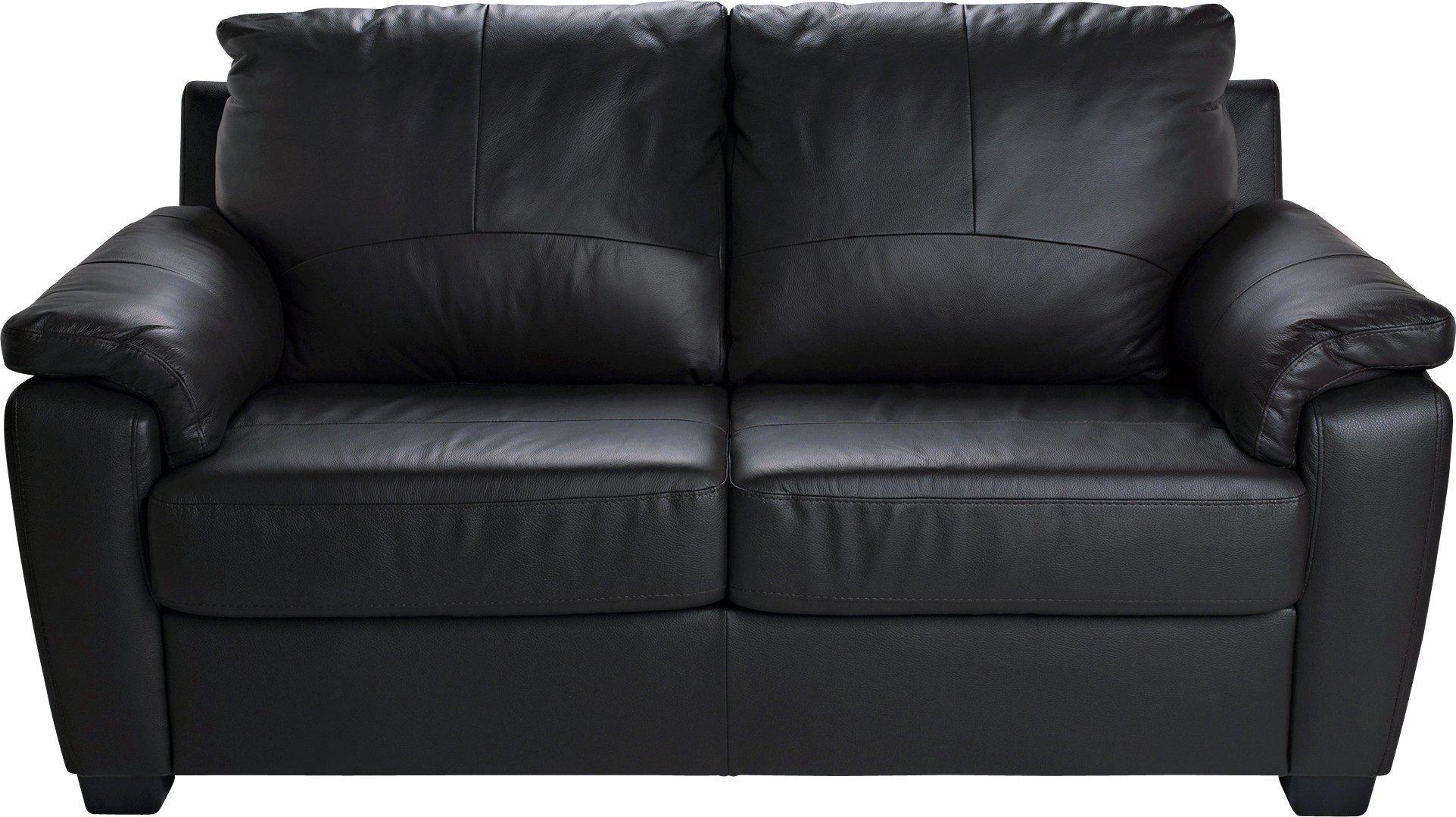Buy HOME Antonio 2 Seater LeatherLeather Eff Sofa Bed Black at